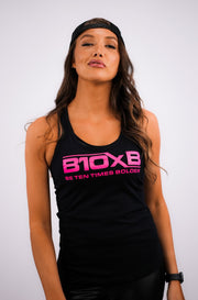 Women's B10xB Black & Pink Tank Top