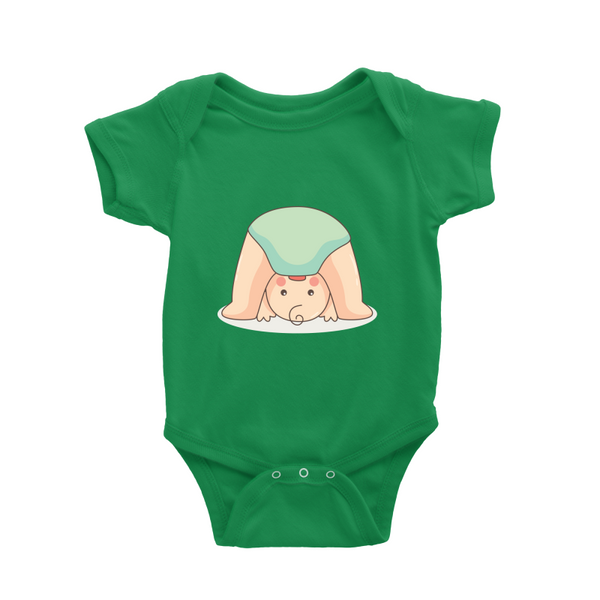 Romper with upside down baby