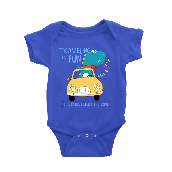 Travel is Fun Dino Baby Romper
