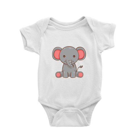 Romper with little elephant