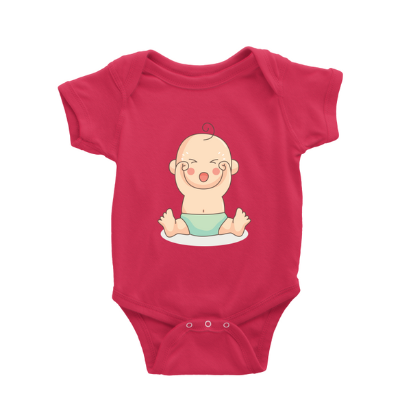 Romper with crying baby