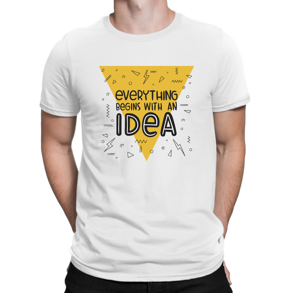 Everything Begins With An Idea Adult T-Shirt