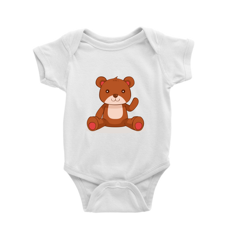 Romper with little bear