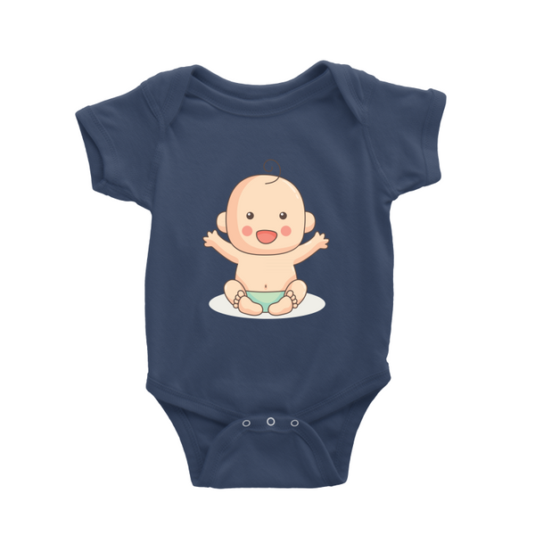 Romper with happy baby boy