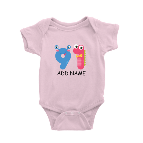 Numbers - Baby Romper [Personalised]