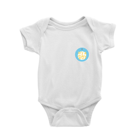 Romper in It's a boy badge