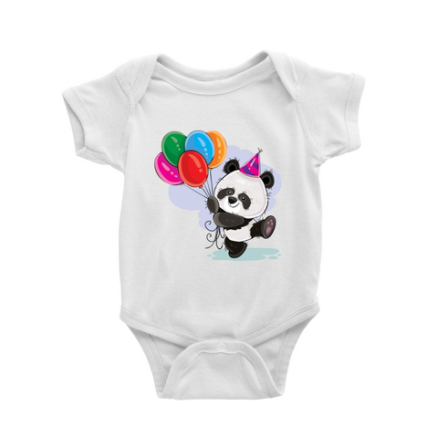 Panda Birthday Balloon Romper