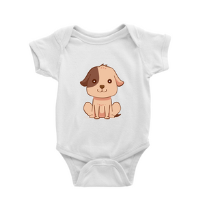 Romper with little dog