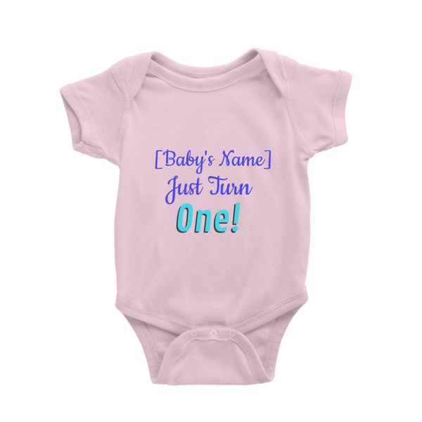 Personalised Baby Romper - Baby Just Turn One