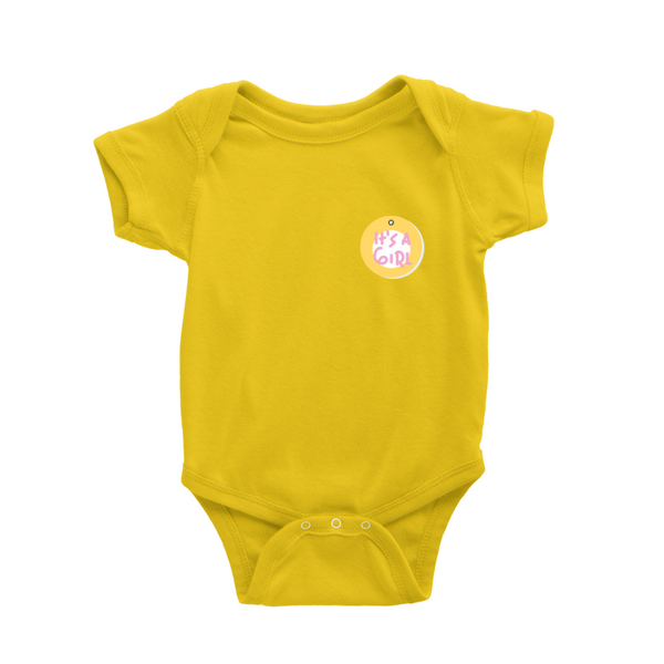 Romper in It's a girl badge