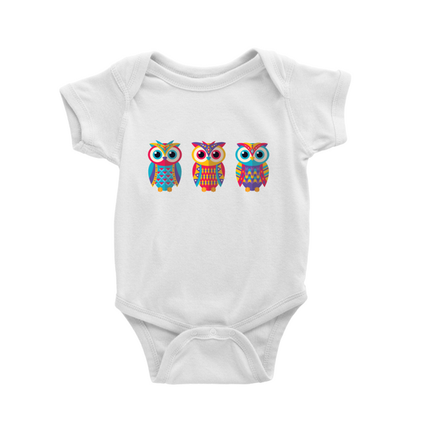 Baby Romper with 3 owls