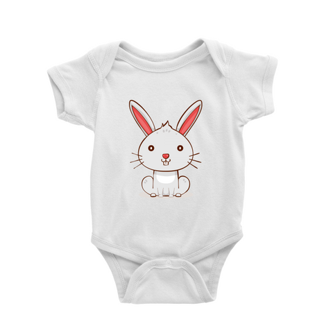 Romper with little rabbit