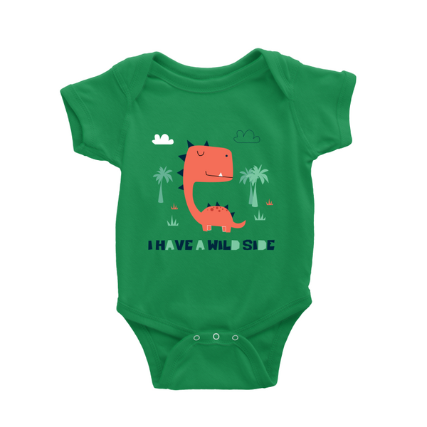 I have a wild side dino baby romper