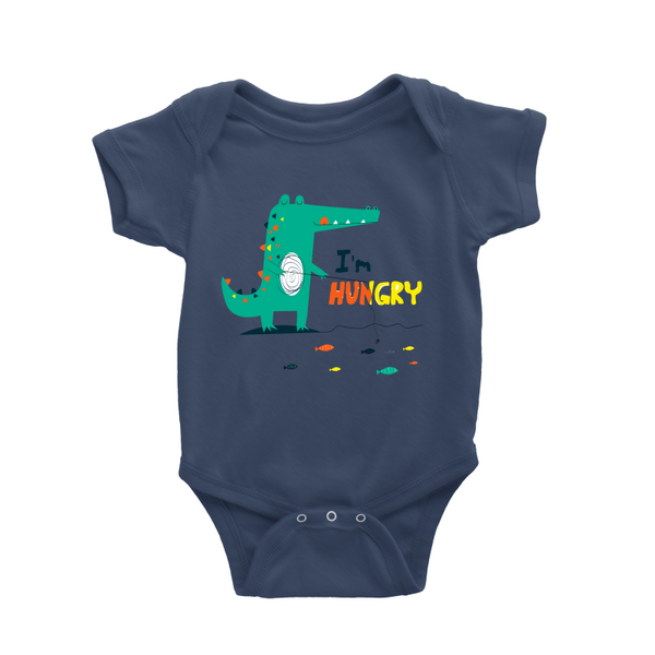 Dino is hungry baby romper