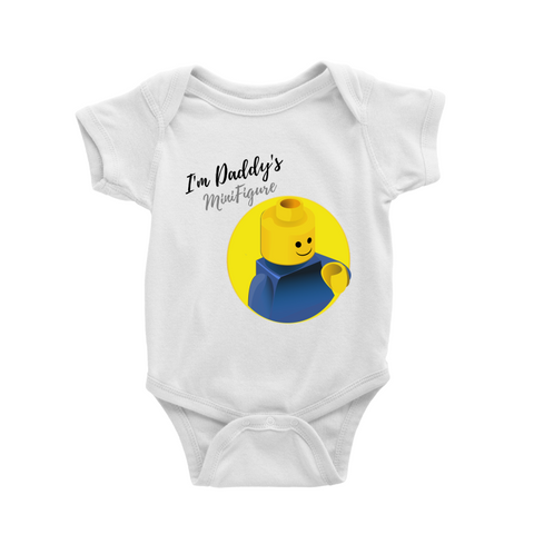 I'm Daddy's Minifigure Baby Romper