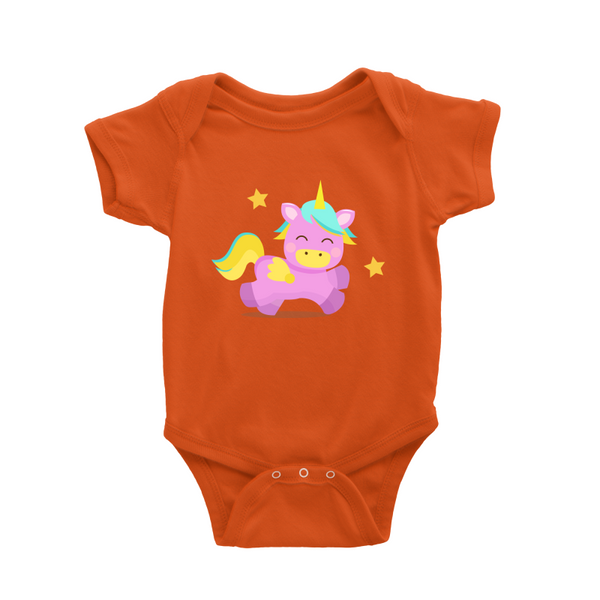 Unicorn Purple Baby Romper
