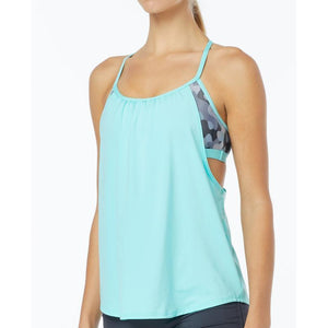 TYR WOMEN'S GREY/MINT LAVARE SHEA 2 IN 1 TANK