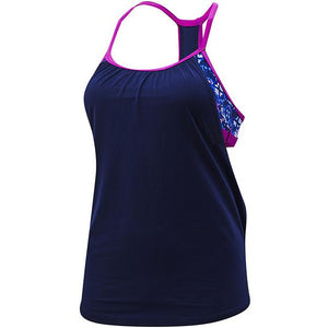 TYR WOMEN'S NAVY/PURPLE SANTA CRUZ SHEA 2 IN 1 TANK