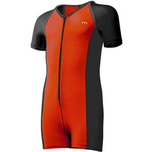 TYR BOYS BLACK/BURNT ORANGE THERMAL SUIT