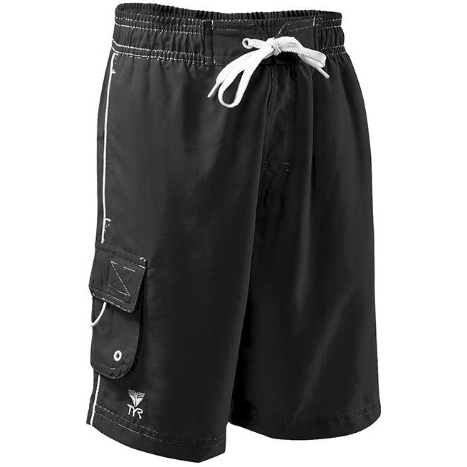 TYR BOYS BLACK CHALLENGER SWIM SHORTS