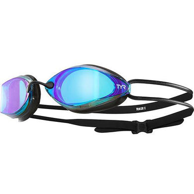 TYR BLUE/BLACK TRACER X RACING MIRRORED GOGGLE