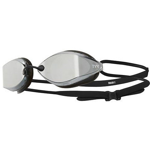 TYR SILVER/BLK TRACER X RACING NANO MIRRORED GOGGLE