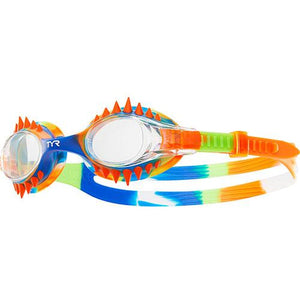 TYR CLEAR/ORANGE KIDS SWIMPLE SPIKES TIE DYE GOGGLE