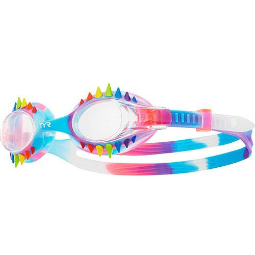 TYR RAINBOW/PINK KIDS SWIMPLE SPIKES TIE DYE GOGGLE