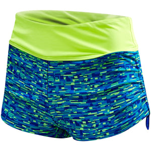 TYR WOMEN'S ROYAL/LIME NAPA DELLA BOYSHORT
