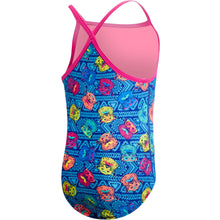TYR GIRL'S BLUE BEAR DOG DIAMONDFIT SWIMSUIT