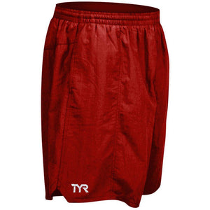 TYR MEN'S RED CLASSIC DECK SHORT