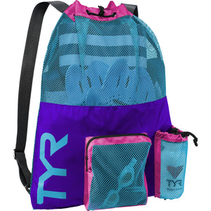 TYR PURPLE/BLUE BIG MESH MUMMY BACKPACK