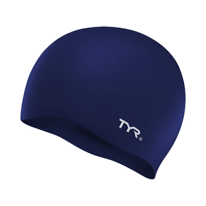 TYR NAVY WRINKLE FREE JR SILICONE CAP