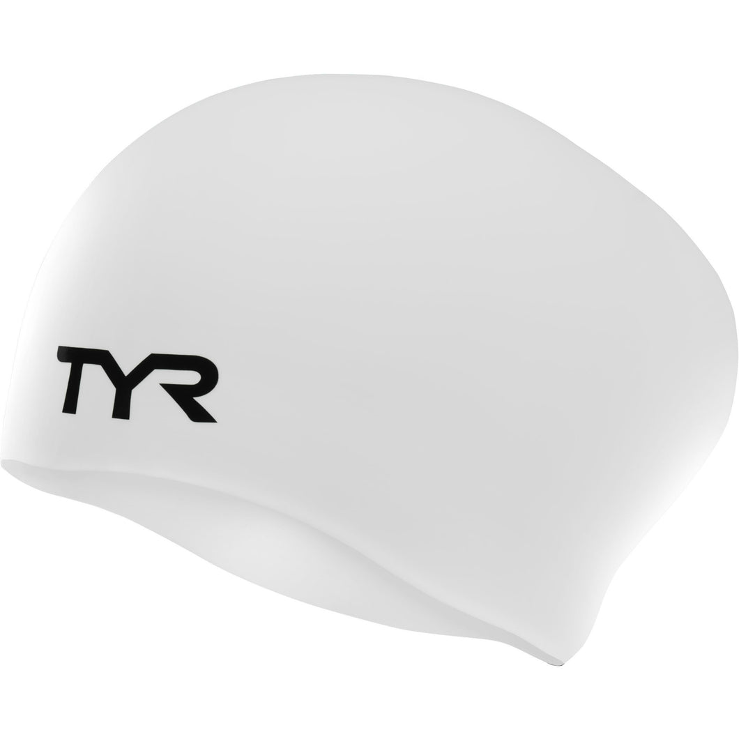TYR WHITE LONG HAIR WRINKLE FREE SILICONE CAP