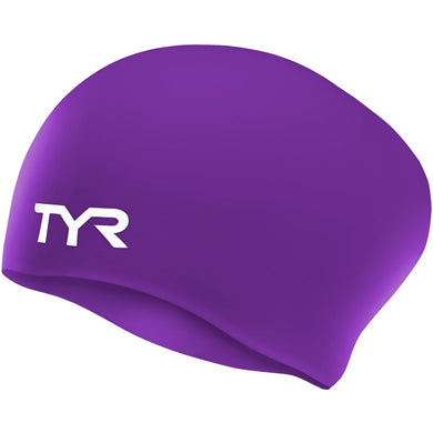 TYR PURPLE LONG HAIR WRINKLE FREE SILICONE CAP