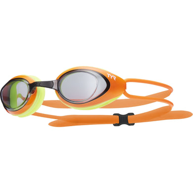 TYR SMOKE/ORANGE/YEL BLACKHAWK RACING GOGGLE