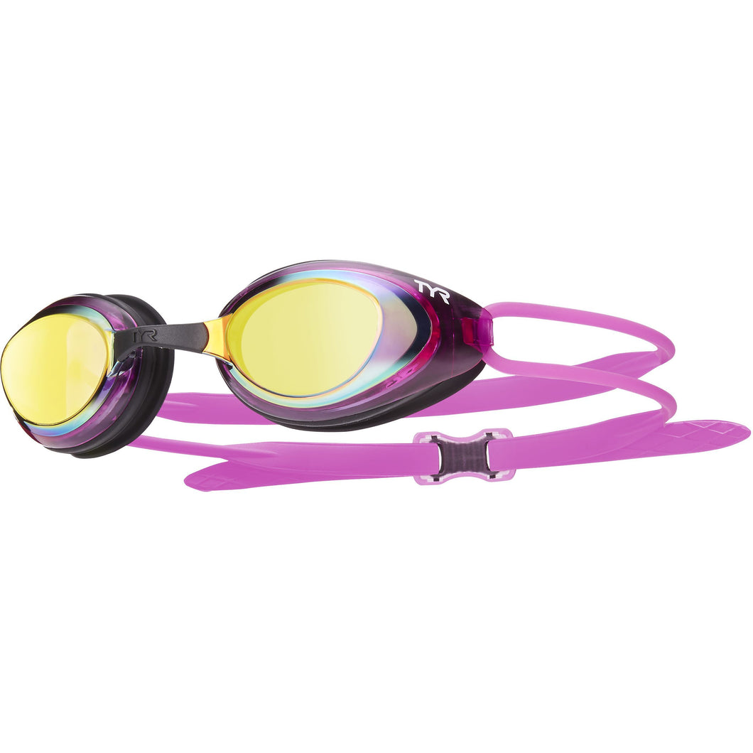 TYR GOLD/PINK/BLK BLACKHAWK RACING FEMME POLARIZED GOGGLE