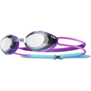 TYR SILVER/PURP/BLUE BLACKHAWK RACING JR MIRRORED GOGGLE