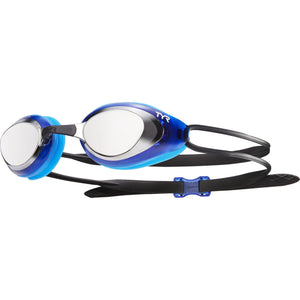 TYR SILVER/BLACK/BLUE BLACKHAWK RACING MIRRORED GOGGLE