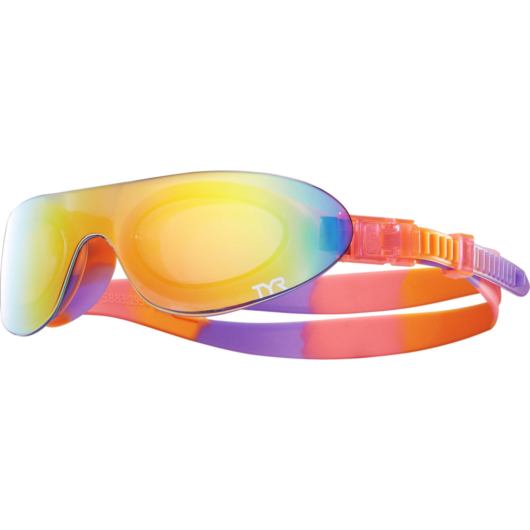 TYR RAINBOW/PINK/FLURO KIDS SWIMSHADES MIRRORED