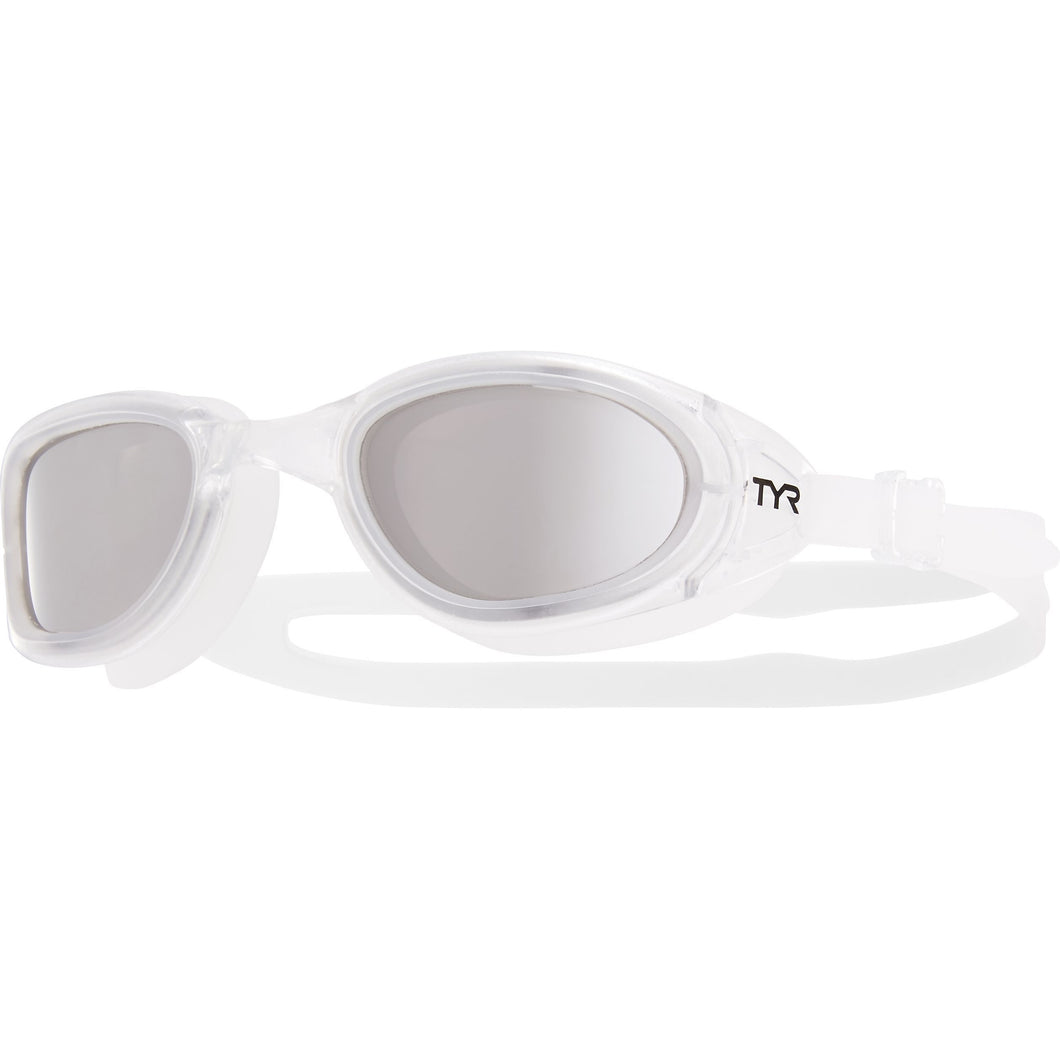 TYR SILV/CLEAR SPECIAL OPS 2.0 POLARIZED GOGGLE