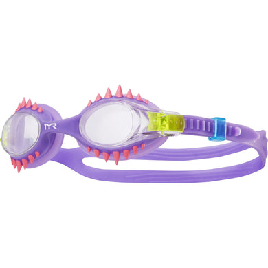 TYR CLEAR/PURPLE SWIMPLE SPIKES GOGGLE
