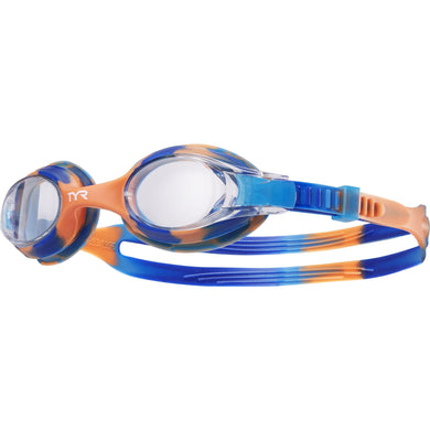 TYR CLEAR/BLUE/ORANGE KIDS SWIMPLE TIE DYE GOGGLE