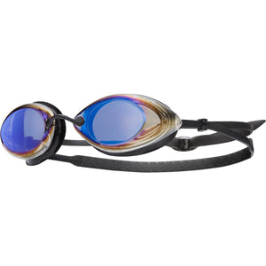 TYR BLUE/BLK TRACER RACING MIRRORED GOGGLE