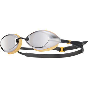 TYR SILVER/ORANGE/BLK TRACER RACING MIRRORED GOGGLE