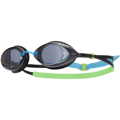 TYR SMOKE/GREEN/BLUE TRACER JR RACING GOGGLE