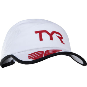 TYR WHITE RUNNING CAP