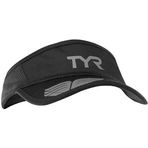 TYR BLACK/GREY RUNNING VISOR