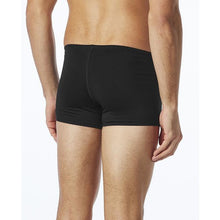 TYR MEN'S BLACK DURAFAST ELITE SQUARE LEG SWIMSUIT