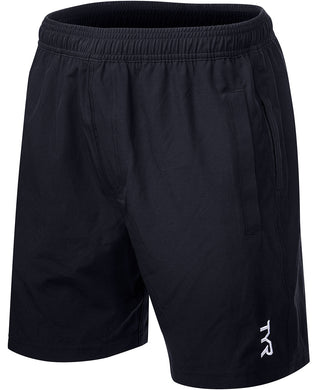 TYR MENS BLACK LAKE FRONT LAND TO WATER SHORT